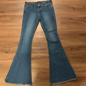 Brandy Melville Denim Flared Jeans Size M